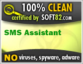 Soft82 100% Clean Award For SMS Assistant